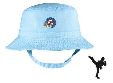 Embroidered Infant Bucket Cap with the image of: martial art figure