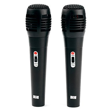 Processing Time 2 Days-Pair Of Karaoke Usb Microphones For Wii, Ps3, Xbox 360 And Pc (Retail Box, Black)