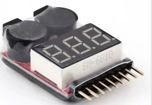 1 - 8S Lipo simple voltage Checker alarm [ADVANTAGE] world of gloves with (Lipo voltage Checker)