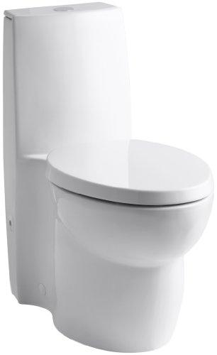 KOHLER K-3564-0 Saile Elongated One-Piece Toilet with Dual Flush Technology, White