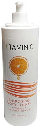 Spa Cosmetics Vitamin C Energizing Body Lotion X-Large 34 Oz Size