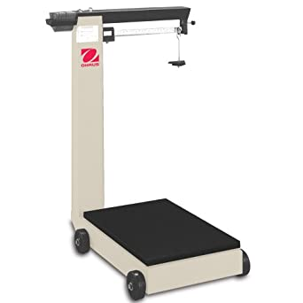Ohaus Defender Painted Steel/Carbon Steel NTEP Certified Mechanical Floor Beam Scale, 1000lb x 0.5lbs