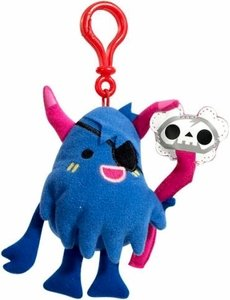 Moshi Monsters Moshlings Backpack Clip Plush Figure Big Bad Bill With Online Code - 1