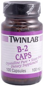 B-2 Capsules, 100 mg, 100 Capsules by Twinlab