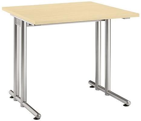 Desk N (properties): Seitenblenden without trims:-Colour: maple (Top)