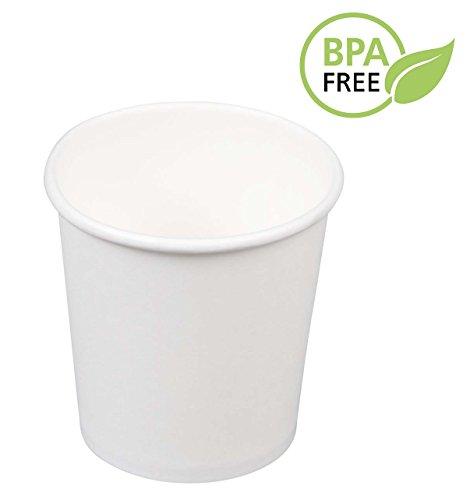 Javva - 4oz White Paper Espresso Cups (Set of 100) (4 Oz Hot Beverage Cups compare prices)