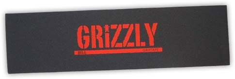 Grizzly Stamp Print Black/Red 9x33 M. Santiago - Single Sheet