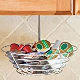 "Lipper International Coffee Carousel, 5 Ring Under The Counter Hanging Coffee Pod Storage Holder for Keurig Vue Packs, Keurig K-Cups, Nespresso Capsules, CBTL/Verismo Pods or Tassimo T-Discs - 10""dia X 8""h"