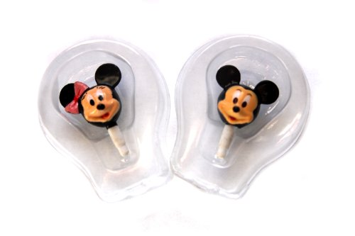 Popular Characters Disney Mickey And Minnie Dust Plugs For Earphone Jack Cell Charms For Iphone 4 4S / Ipad / Ipod Touch / Any 3.5Mm Jack - Set Of 2