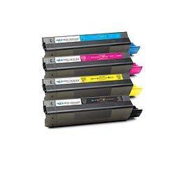 Okidata C5100 / C5150 / C5200 / C5250 / C5300 / C5400 / C5450 / C5510 Lot Complet de toners Compatibles - Offre Spéciale d'Essai limitée a une par client