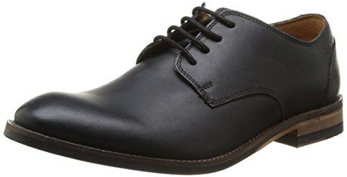 ClarksExton Walk - Scarpe stringate Uomo , Nero (Nero (Black Leather)), 39.5
