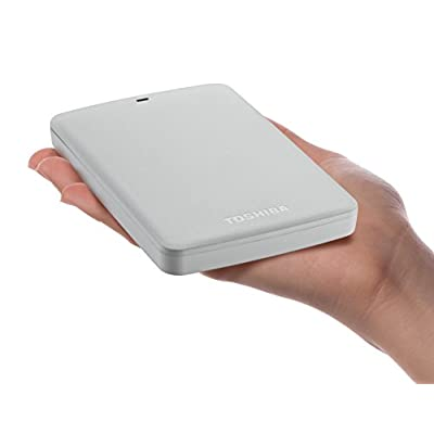 Toshiba Canvio Basics 500GB Portable Hard Drive- White (HDTB305XW3AA)
