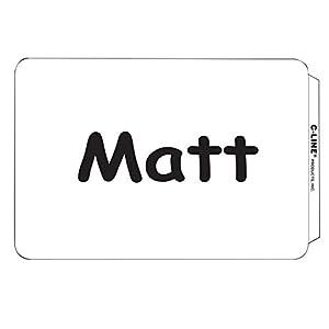 C-Line Pressure Sensitive Peel and Stick Name Badges, Plain White, 3.5 x 2.25 Inches, 100 per Box (92277)