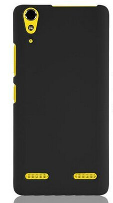 Imaginedesign Wow Imagine(Tm) Rubberised Matte Hard Case Back Cover For Lenovo A6000 / A6000+ A6000 Plus (Black)