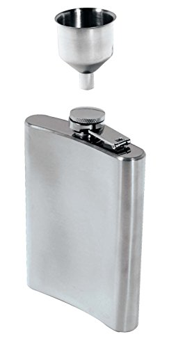 SE HQ90 Stainless Steel 8-Oz. Hip Flask & Funnel Set