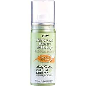 Sally Hansen Natural Beauty Airbrush Spray Makeup, Medium to Deep, Inspired By Carmindy.