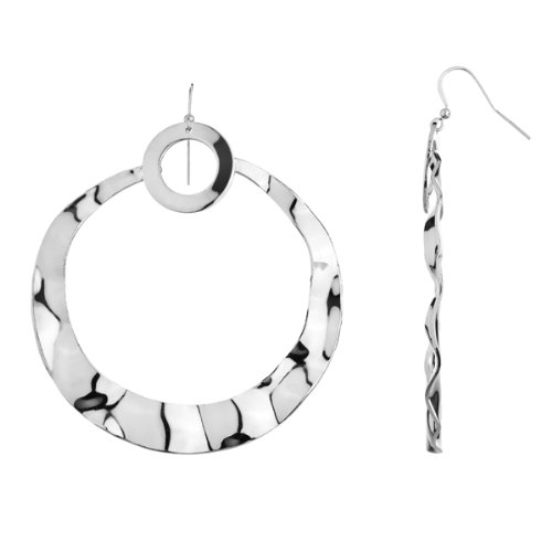 Real Housewive's Jewelry: Adrienne's Beverly Hills Silver Dangle Hoop Earrings