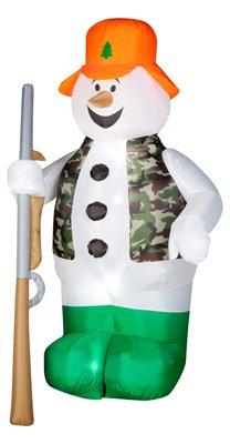 GEMMY INDUSTRIES 86231 Air Blown Hunter Snowman (Air Blown Inflatables)