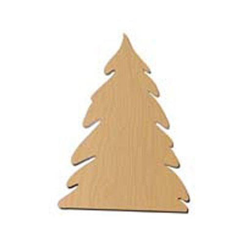 Darice 9171-54 Wood Pine Tree Shape - 1