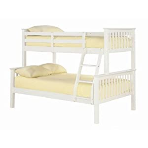 Otto Triple Sleeper Bunk Bed Finish: Solid Off - White