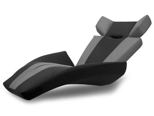 座椅子型リクライニングソファー グランデルタマンボウソファー (メッシュ生地) (グレー(V字ストライプ))