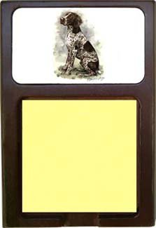 German Shorthair Pointer Sticky Note Holder impacted canine an overview