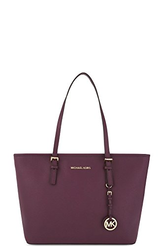 MICHAEL KORS Borsa Plum Tz Tote Leather Jet Set Travel Art 30S4GTVT2L 86 633 A16
