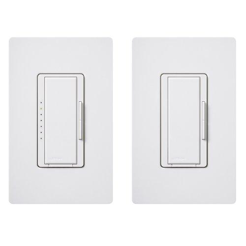 Lutron MACL-153MRHW-WHC Maestro Multi-Location CFL/LED Digital Dimmer Kit, White, 150-watt