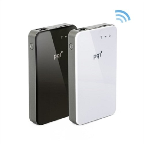 PQI Air Bank ワイヤレスAP&ポータブルHDD 500GB ブラック