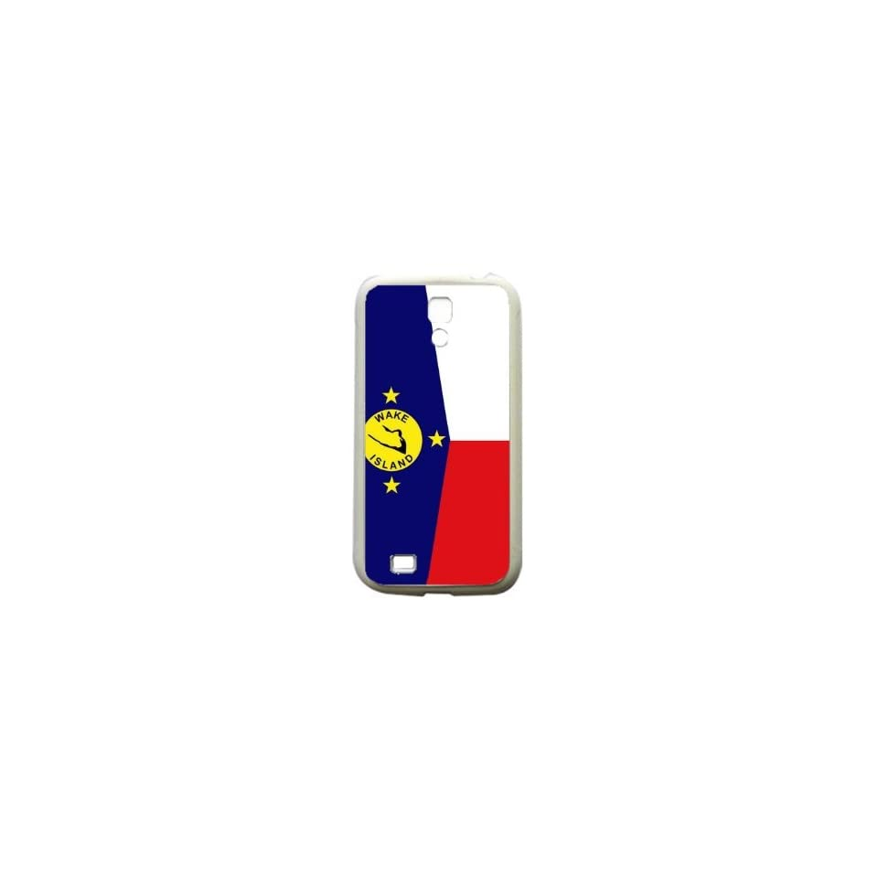 Wake Island Flag Samsung Galaxy S4 White Silcone Case   Provides Great Protection