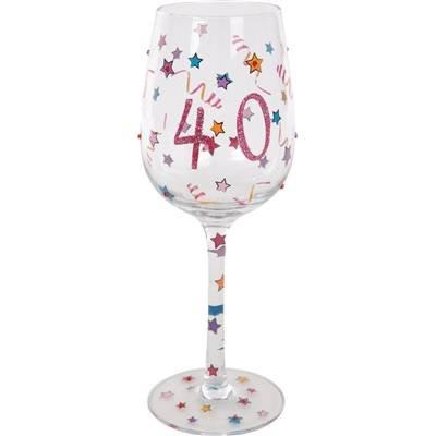 Happy Birthday Verre à vin 40 ans