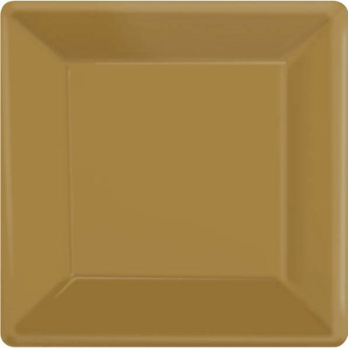 Gold Party Supplies Square Dessert Paper Plates 20ct [Toy] [Toy]