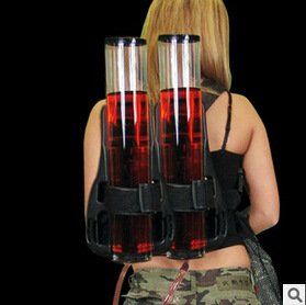 Backpack-Backpack-style drinking beer machine gun double barrel wine wine wine tower with double gun dispenser (Cool Bar Accessories compare prices)
