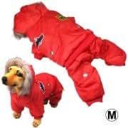 Air Force Uniform Style Dog Warm Coat Autumn / Winter Clothes (Size: M)