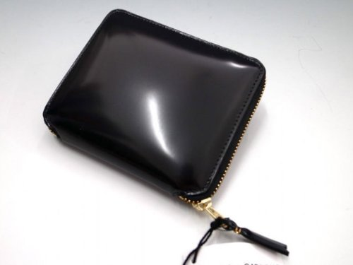 Wallet COMME des GARCONS ( コムデギャルソン)  ○○ッシーレザー二つ折り財布 black×blue