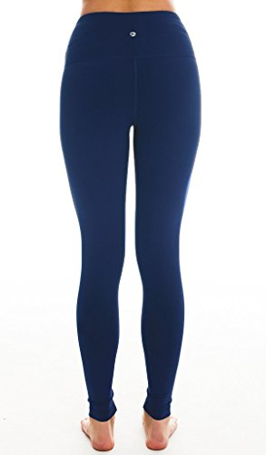 90 Degree By Reflex - High Waist Power Flex Leggings - Tummy Control - Navy Small