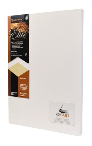 Masterpiece Elite Canvas 18-Inch by 24-Inch with Super Heavy 15-Ounce Acrylic Primed Cotton