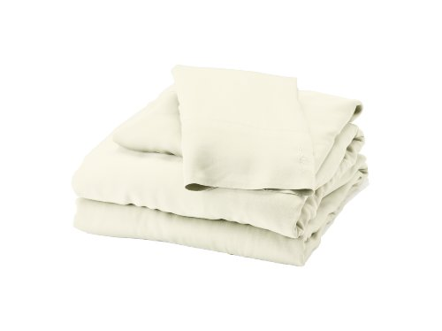 Bedvoyage 100-Percent Bamboo-Derived Rayon Bed Sheet Set, Full, Ivory
