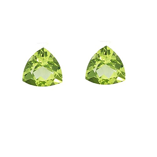 Natural Peridot Aaa Quality Loose Gemstone 5 Mm Faceted Trillion 1 Piece From Dashrath International front-38348
