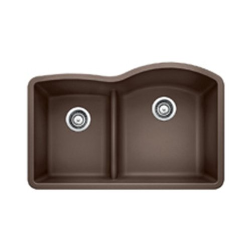 Blanco 441609 Diamond 1.75 Low Divide Under Mount Reverse Kitchen Sink, Large, Cafe Brown