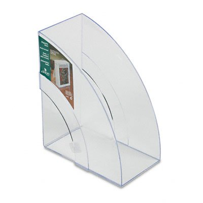 Rubbermaid 96502Ros Deluxe Magazine Rack, Extra Wide, Clear, 1 Each front-204470