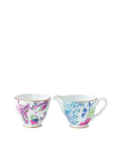Wedgwood Butterfly Bloom Ceramic Creamer & Sugar Set