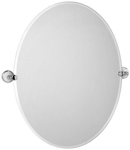 Gatco Gc4961 Polished Chrome/Porcelain Franciscan Franciscan Collection Large Tilting Oval Wall Mirror (Beveled) front-678936
