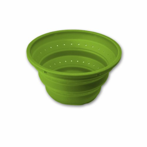 Checkout Island Bamboo 8-Inch Collapsible Colander And Steamer, Lime Green discount