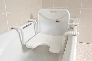aluminium bath seat back rest shower tub disabled kitchen amp. Black Bedroom Furniture Sets. Home Design Ideas