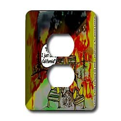 Londons Times Funny Music Cartoons - HOT Vacations In California - Light Switch Covers - 2 plug outlet cover
