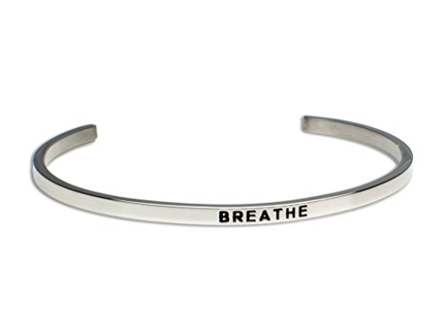BREATHE:Gift for Her,Mantra Bracelet, Inspirational gift,100% Guaranteed,Perfect Gift.