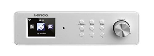 Lenco KCR-2014 unterbaufähiges Internet Küchen Radio (6,1 cm (2,4 Zoll) TFT Farbdisplay, PLL FM mit RDS, WLAN, Equalizer, DNLA/UPnP, Fernbedienung)