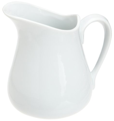Kitchen Supply White Porcelain Pitcher, 16-Ounce