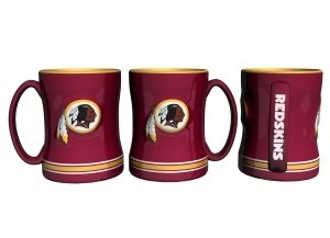 Washington Redskins Coffee Mug - 15Oz Sculpted (Please See Item Detail In Description)